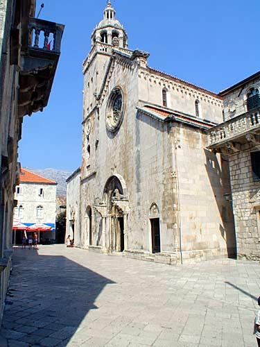 Cathedral Sveti Marko At Korcula Old Town